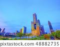 台灣高雄高層建築夜視圖 48882735