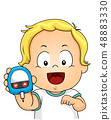 Kid Toddler Boy Blood Glucose Meter Illustration 48883330