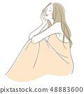 女人坐着 48883600