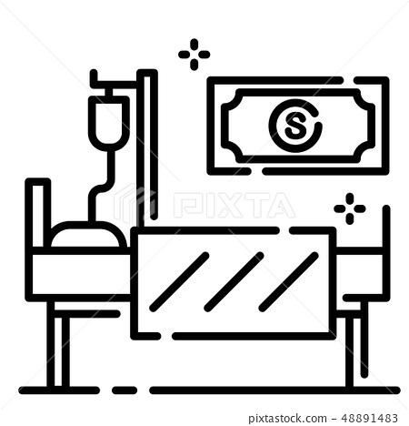 Hospital income ICU Line illustration 48891483