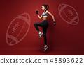 athlete, female, run 48893622