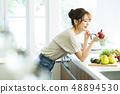 厨房女性主妇家务生活方式烹调 48894530