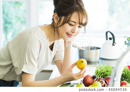 Kitchen Female housewife housework lifestyle cuisine 48894536