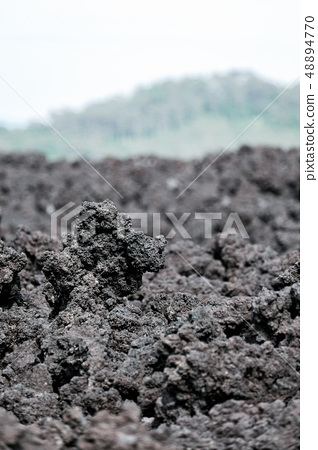 Cold and solidified lava 48894770