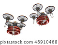 Rescue drone (with floats, formation flight, transparent material) 48910468