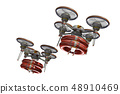 Rescue drone (with floats, formation flight, transparent material) 48910469