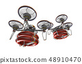 Rescue drone (with floats, formation flight, transparent material) 48910470