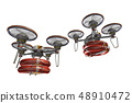 Rescue drone (with floats, formation flight, transparent material) 48910472