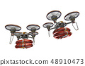 Rescue drone (with floats, formation flight, transparent material) 48910473