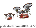 Rescue drone (with floats, formation flight, transparent material) 48910477
