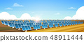solar energy panel fields renewable station alternative electricity source concept photovoltaic 48911444
