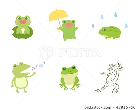 一隻逗人喜愛的青蛙的例證 48915756