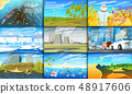 Environmental pollution. Set of radioactive industry. Ecological problems Deforestation, global 48917606