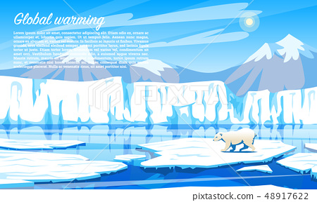 Global warming. Environmental problem. Climate Change. Ecological catastrophe. Air pollution. Polar 48917622