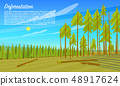 Deforestation concept. Cutting down trees. Environmental pollution and Ecological problems 48917624