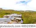 View over Snowy River in Kosciuszko National Park, 48920964