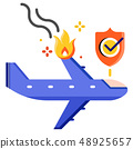Air accident flat illustration 48925657