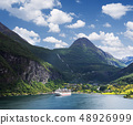 Cruise liner in Norway fjord 48926999