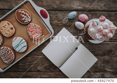 Easter Bakery On Kitchen Table