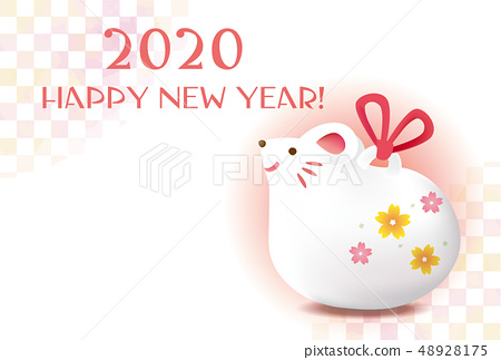 Material for 2020 material for new year's cards 48928175