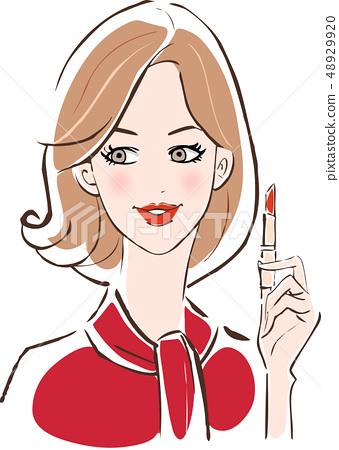 春天化妝明亮的紅色胭脂 48929920
