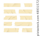Realistic 3d Detailed Adhesive or Masking Tape Set. Vector 48931572