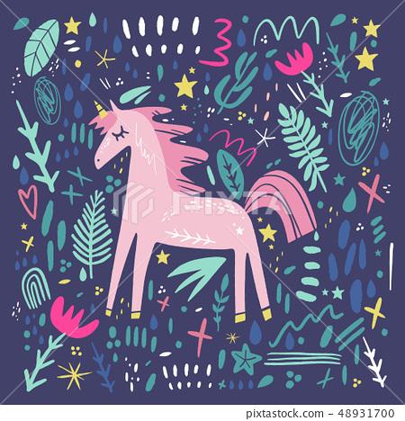 Unicorn Pattern Vector Cute Nursery
