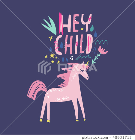 Unicorn Vector Cute Nursery Wall Art