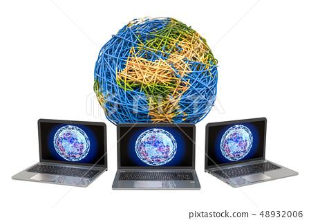 Global internet connection concept. 48932006