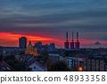 Hanover city skyline on colorful sunset sky 48933358
