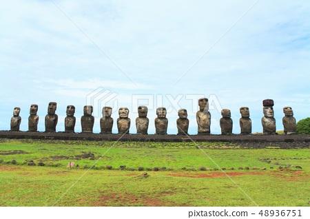 Ahu Tongariki on Easter Island 48936751