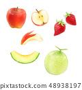 水彩风格水果套 48938197