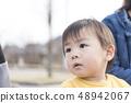 아이 소년 응시 상반신 초상화 48942067