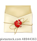 Opened paper envelope with letter realistic vector 48944363
