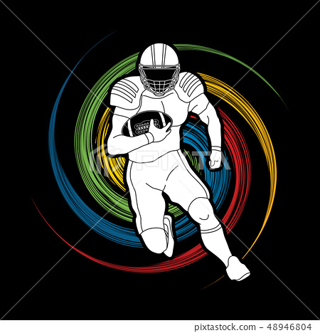 American Football player action sport concept 48946804