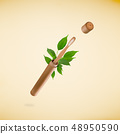 Eco friendly bamboo teeth brush in case. Zero waste concept. 48950590
