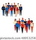 Groups of people cartoons 48953258