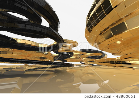 Abstract modern future architecture contains... - Stock ...