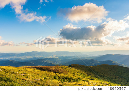 gorgeous summer mountain landscape at sunset 48960547