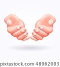 Two hands vector illustrations. 48962093