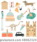 Big set of London symbols and attractions 48962324