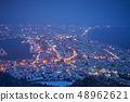 Beautiful scenic winter night at Hakodate city. 48962621