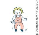 걸음마 아기 핑크 48963197