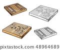 Go and shogi Japanese board games 48964689