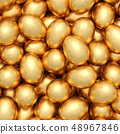 background of golden eggs 48967846