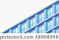 Isometric Building Facade Illustration 48968948