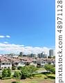 藍天新鮮的天空 48971128