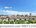 藍天新鮮的天空 48971130