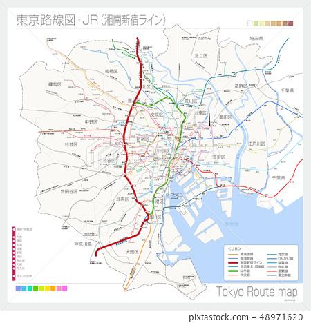 Route map of Tokyo · JR (Shonan Shinjuku Line) 48971620