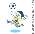 축구를하는 소년 블루 48971966